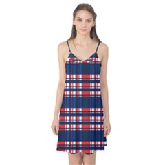 Plaid Red White Blue Camis Nightgown by Alisyart