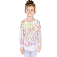 Sugar Sweet Rainbow Kids  Long Sleeve Tee by Alisyart