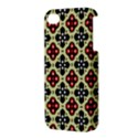Seamless Floral Flower Star Red Black Grey Apple iPhone 4/4S Hardshell Case View3