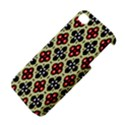 Seamless Floral Flower Star Red Black Grey Apple iPhone 4/4S Hardshell Case View4