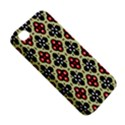 Seamless Floral Flower Star Red Black Grey Apple iPhone 4/4S Hardshell Case View5