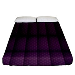 Plaid Purple Fitted Sheet (king Size) by Alisyart