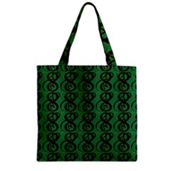 Abstract Pattern Graphic Lines Zipper Grocery Tote Bag by Amaryn4rt