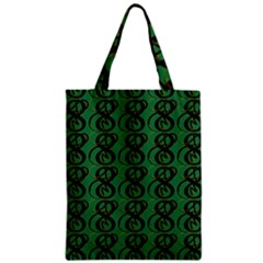 Abstract Pattern Graphic Lines Zipper Classic Tote Bag by Amaryn4rt