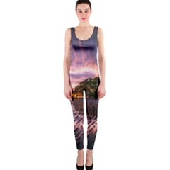 Landscape Reflection Waves Ripples Onepiece Catsuit by Amaryn4rt