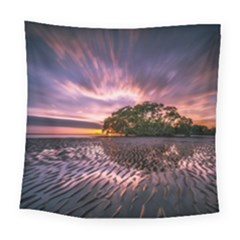 Landscape Reflection Waves Ripples Square Tapestry (large) by Amaryn4rt