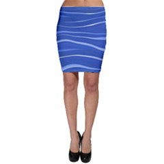 Lines Swinging Texture  Blue Background Bodycon Skirt