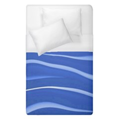 Lines Swinging Texture  Blue Background Duvet Cover (single Size) by Amaryn4rt