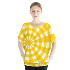 Weaving Hole Yellow Circle Blouse