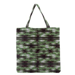 Stripes Camo Pattern Print Grocery Tote Bag by dflcprints