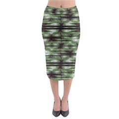 Stripes Camo Pattern Print Midi Pencil Skirt by dflcprintsclothing