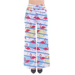 Flamingo Pattern Pants by Valentinaart