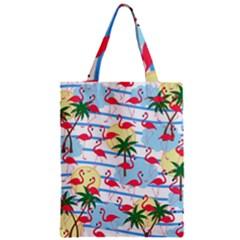 Flamingo Pattern Zipper Classic Tote Bag by Valentinaart