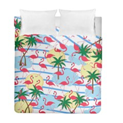 Flamingo Pattern Duvet Cover Double Side (full/ Double Size) by Valentinaart