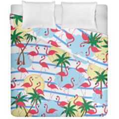 Flamingo Pattern Duvet Cover Double Side (california King Size) by Valentinaart