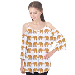 Indian Elephant  Flutter Tees by Valentinaart