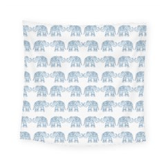 Indian Elephant  Square Tapestry (small) by Valentinaart