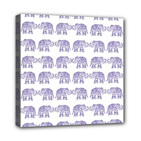 Indian Elephant Pattern Mini Canvas 8  X 8  by Valentinaart