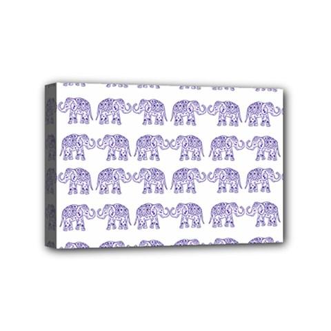Indian Elephant Pattern Mini Canvas 6  X 4  by Valentinaart