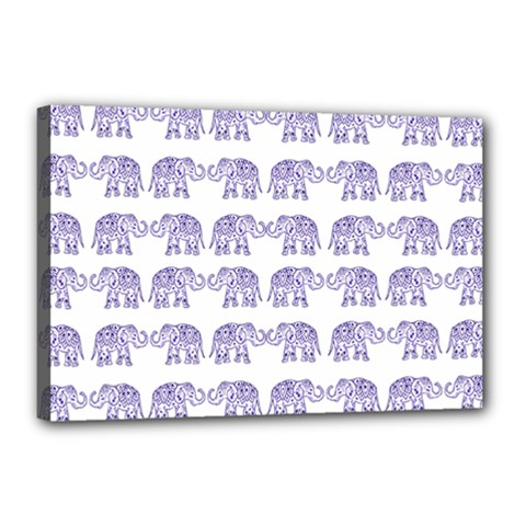 Indian Elephant Pattern Canvas 18  X 12  by Valentinaart