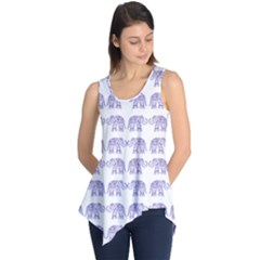Indian Elephant Pattern Sleeveless Tunic by Valentinaart