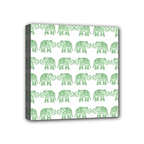 Indian Elephant Pattern Mini Canvas 4  X 4  by Valentinaart