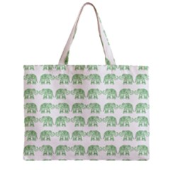 Indian Elephant Pattern Zipper Mini Tote Bag by Valentinaart