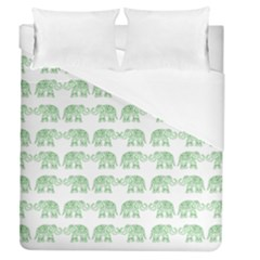 Indian Elephant Pattern Duvet Cover (queen Size) by Valentinaart
