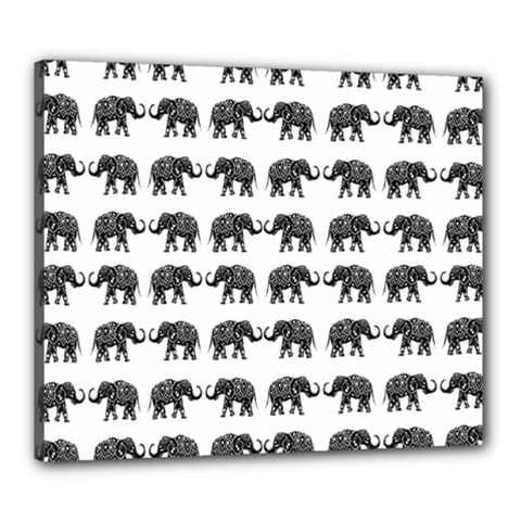 Indian Elephant Pattern Canvas 24  X 20  by Valentinaart