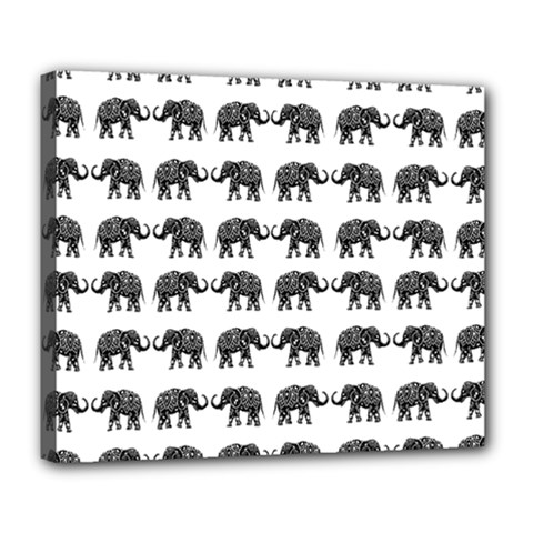 Indian Elephant Pattern Deluxe Canvas 24  X 20   by Valentinaart