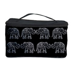 Indian Elephant Pattern Cosmetic Storage Case by Valentinaart