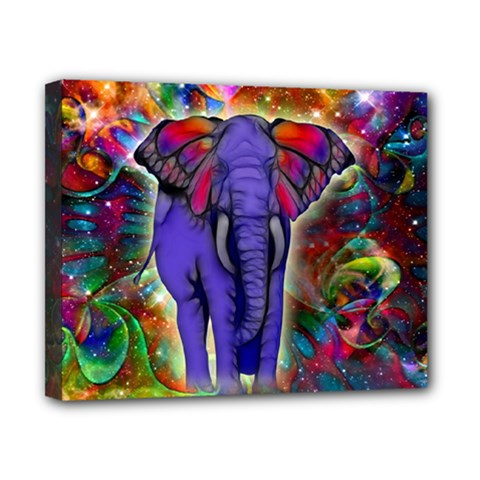 Abstract Elephant With Butterfly Ears Colorful Galaxy Canvas 10  X 8  by EDDArt