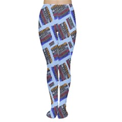 Abstract Pattern Seamless Artwork Women s Tights