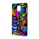 Abstract Art Squiggly Loops Multicolored Samsung Galaxy Note 4 Hardshell Case View2