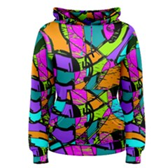 Abstract Art Squiggly Loops Multicolored Women s Pullover Hoodie by EDDArt