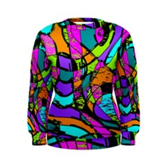 Abstract Art Squiggly Loops Multicolored Women s Sweatshirt by EDDArt
