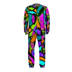Abstract Art Squiggly Loops Multicolored Onepiece Jumpsuit (kids) by EDDArt