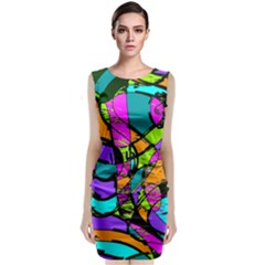 Abstract Art Squiggly Loops Multicolored Classic Sleeveless Midi Dress by EDDArt