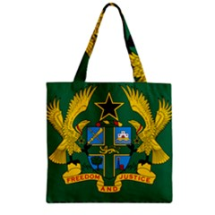 National Seal Of Ghana Zipper Grocery Tote Bag by abbeyz71