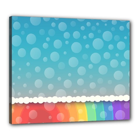 Rainbow Background Border Colorful Canvas 24  X 20  by Amaryn4rt