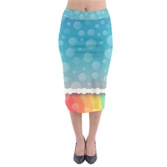 Rainbow Background Border Colorful Midi Pencil Skirt by Amaryn4rt