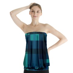 Boxes Abstractly Strapless Top by Amaryn4rt
