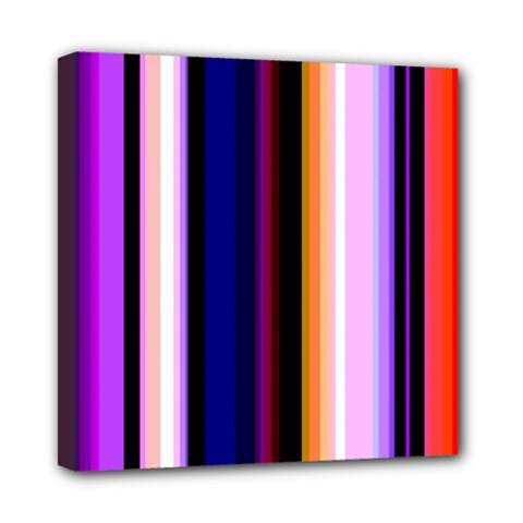 Fun Striped Background Design Pattern Mini Canvas 8  X 8  by Amaryn4rt