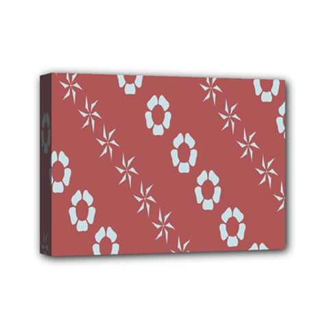 Abstract Pattern Background Wallpaper In Pastel Shapes Mini Canvas 7  x 5