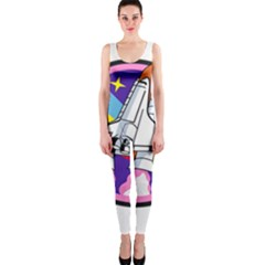 Badge Patch Pink Rainbow Rocket Onepiece Catsuit by Amaryn4rt