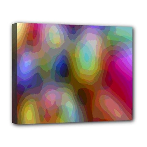 A Mix Of Colors In An Abstract Blend For A Background Deluxe Canvas 20  X 16   by Amaryn4rt