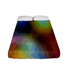 A Mix Of Colors In An Abstract Blend For A Background Fitted Sheet (full/ Double Size) by Amaryn4rt