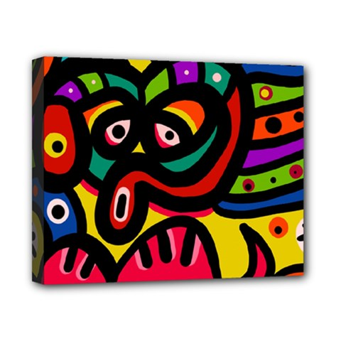 A Seamless Crazy Face Doodle Pattern Canvas 10  X 8  by Amaryn4rt