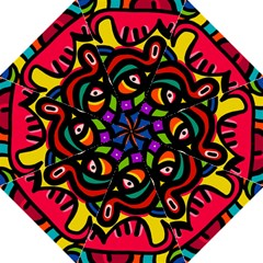 A Seamless Crazy Face Doodle Pattern Straight Umbrellas
