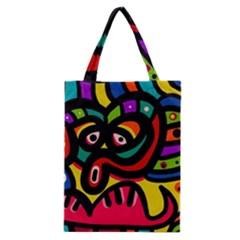 A Seamless Crazy Face Doodle Pattern Classic Tote Bag by Amaryn4rt